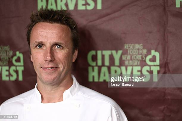 Chef Marc Murphy attends City Harvest's 15th Annual Bid Against Hunger restaurant tasting event at Metropolitan Pavilion on October 20, 2009 in New...