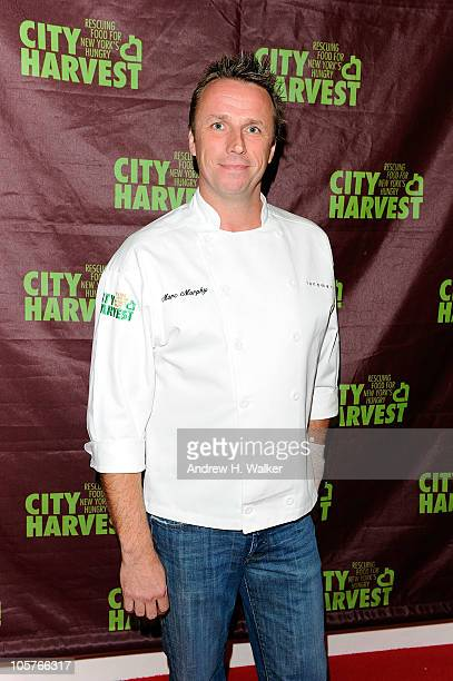 Chef Marc Murphy attends the 16th Annual Bid Against Hunger Tasting Event hosted by City Harvest at Metropolitan Pavilion on October 19 2010 in New...