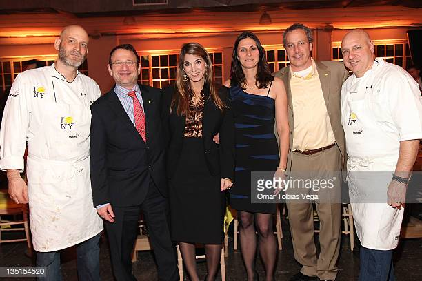 Chef Marc Vetri Chairman and CEO of ToysRUs Inc Jerry Storch Jacquie Storch Liz Scott Jay Scott and Chef Tom Colicchio attend Lemon NYC A Culinary...