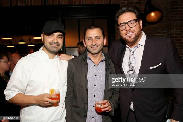 Chef Marco Incerti and Chef Scott Conant attend Aperitivo hosted by Scott Conant at The Standard High Line on October 13 2017 in New York City