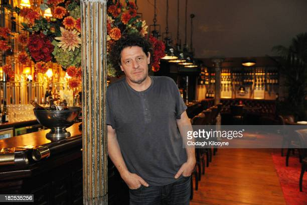 Chef Marco Pierre White opens his new restaurant 'Marco Pierre White Courtyard Bar Grill' in Donnybrook on September 30 2013 in Dublin Ireland