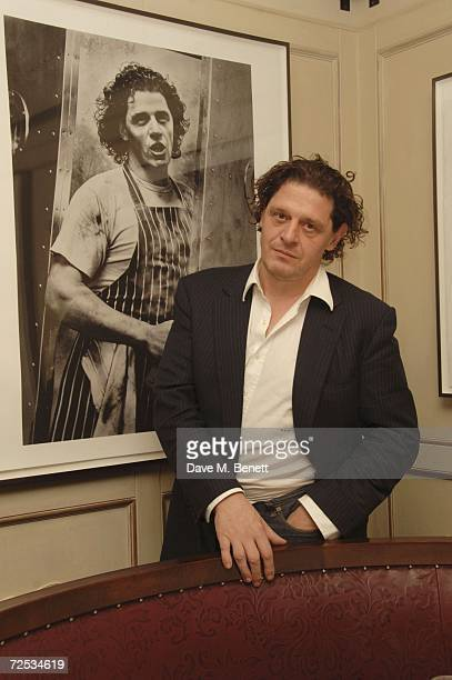 Chef Marco PierreWhite attends the photographer Bob Carlos Clark's Exhibition at Luciano's on November 13 2006 in London England