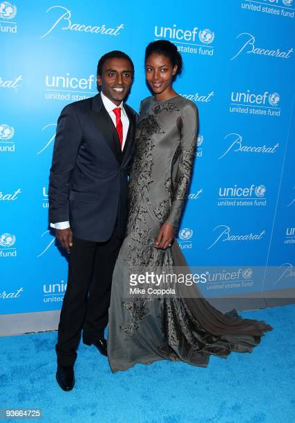 Chef Marcus Samuelsson and Maya Haile attend the 2009 UNICEF Snowflake Ball at Cipriani 42nd Street on December 2, 2009 in New York City.