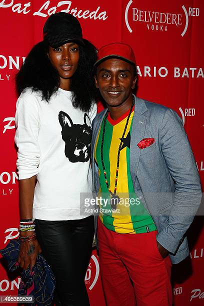 Chef Marcus Samuelsson and wife Maya Haile attend The Launch Of EAT DRINK SAVE LIVES at Eataly Birreria on June 2 2014 in New York City Photo by...