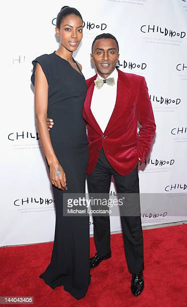 Chef Marcus Samuelsson and wife Maya Samuelsson attend the World Childhood Foundation USA Gala Dinner at Gotham Hall on May 8 2012 in New York City