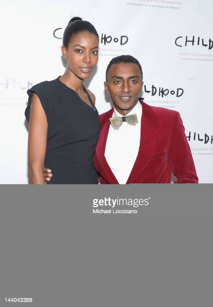 Chef Marcus Samuelsson and wife Maya Samuelsson the World Childhood Foundation USA Gala Dinner at Gotham Hall on May 8 2012 in New York City