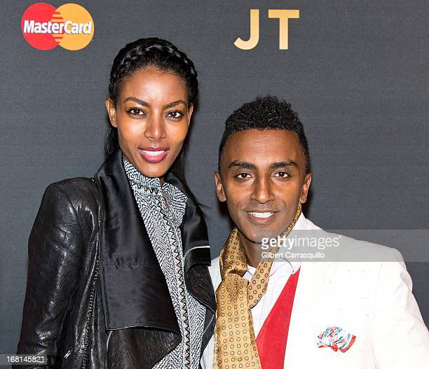 Chef Marcus Samuelsson and wife model Maya Haile attend MasterCard Priceless premieres presents Justin Timberlake at Roseland Ballroom on May 5 2013...