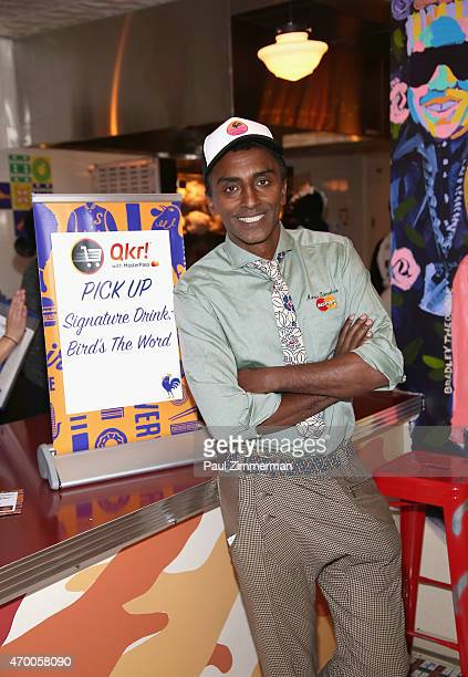 Chef Marcus Samuelsson attends as Diners learn about MasterCard's new order ahead app Qkr with MasterPass™ at the launch party for chef Marcus...