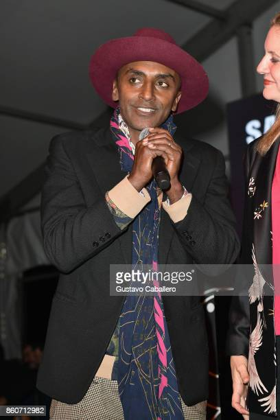 Chef Marcus Samuelsson attends The Food Network & Cooking Channel New York City Wine & Food Festival Presented By Coca-Cola - Smorgasburg presented...