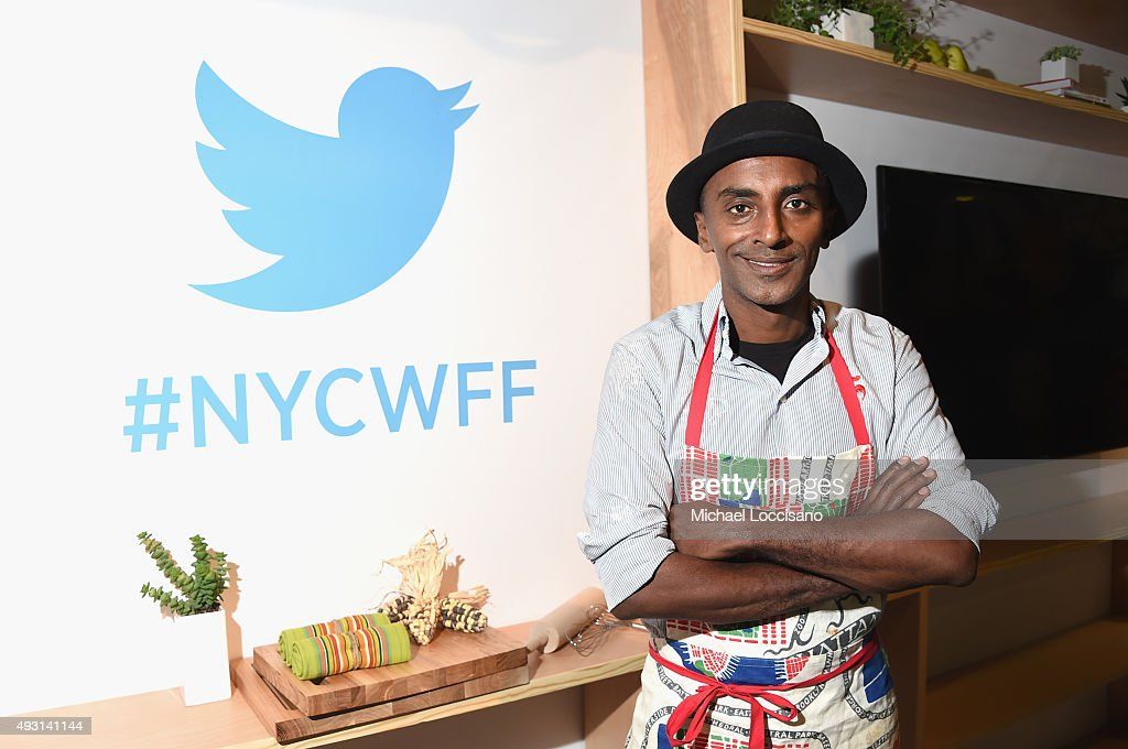 Chef Marcus Samuelsson attends the Grand Tasting presented by ShopRite featuring Samsung culinary demonstrations presented by MasterCard - Food Network & Cooking Channel New York City Wine & Food Festival presented by FOOD & WINE at Pier 94 on October 17, 2015 in New York City.