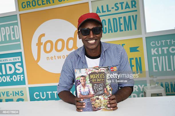 Chef Marcus Samuelsson attends the KitchenAid Culinary Demonstrations during the 2015 Food Network Cooking Channel South Beach Wine Food Festival...
