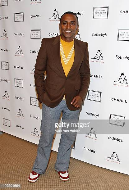 Chef Marcus Samuelsson attends The New York Academy of Art's 20th Annual Take Home a Nude benefit at Sotheby's on October 17 2011 in New York City