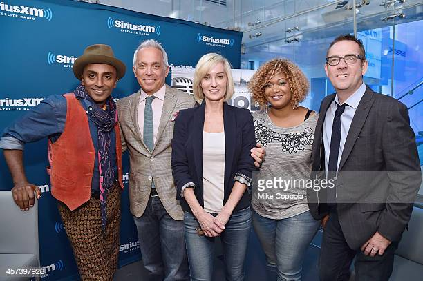 Chef Marcus Samuelsson chef and host Geoffrey Zakarian Hilary Gumbel television food personality Sunny Anderson and food writer/author Ted Allen pose...