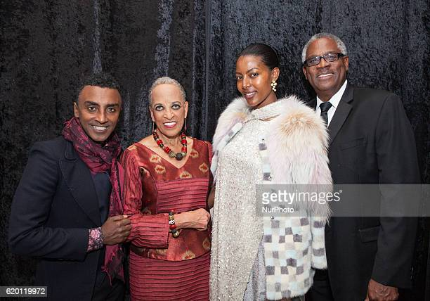 Chef Marcus Samuelsson Dr Johnnetta B Cole model Maya Haile James D Staton at The Smithsonian National Museum of African Art's 1st annual African Art...