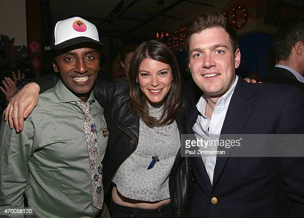 Chef Marcus Samuelsson Gail Simmons and Max Silvestri attend as Diners learn about MasterCard's new order ahead app Qkr with MasterPass™ at the...