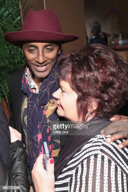 Chef Marcus Samuelsson greets guests at The Food Network & Cooking Channel New York City Wine & Food Festival Presented By Coca-Cola - Smorgasburg...
