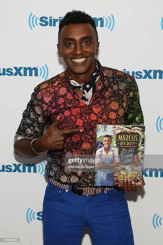 Chef Marcus Samuelsson visits the SiriusXM Studios on October 21, 2014 in New York City.
