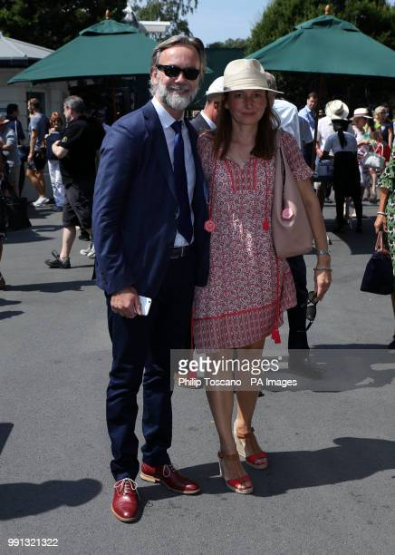 Chef Marcus Wareing and his wife Jane on day two of the Wimbledon Championships at the All England Lawn Tennis and Croquet Club Wimbledon