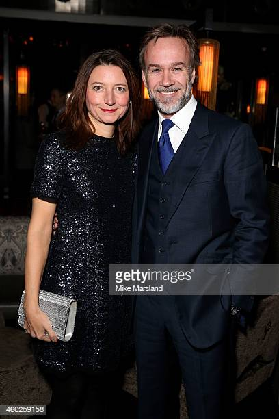Chef Marcus Wareing and his wife Jane Wareing attend the Omega Oxford Street Store Opening Party at The Shard on December 10 2014 in London England