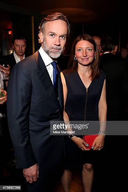 Chef Marcus Wareing and his wife Jane Wareing attend the OMEGA VIP dinner in honour of new international ambassador Eddie Redmayne at Quaglino's on...