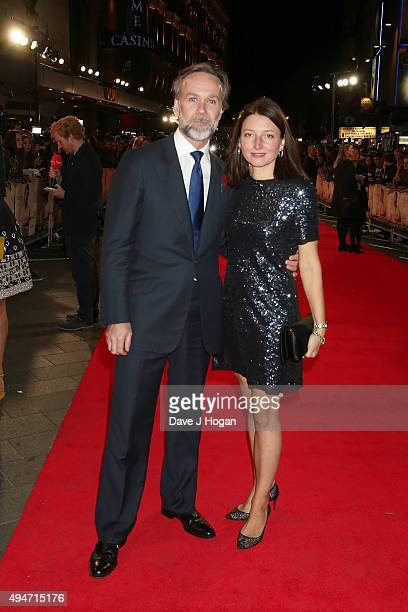 Chef Marcus Wareing and Jane Wareing attend the UK Premiere of Burnt at Vue West End on October 28 2015 in London England
