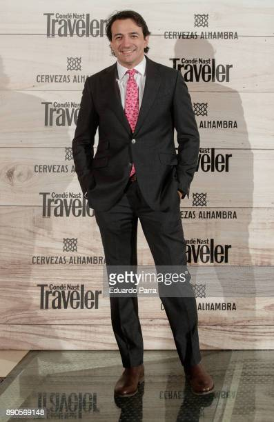 Chef Mario Valles attends the 'Conde Nast Traveler Gastronomic and Wine Guide' photocall at Florida Retiro on December 11 2017 in Madrid Spain