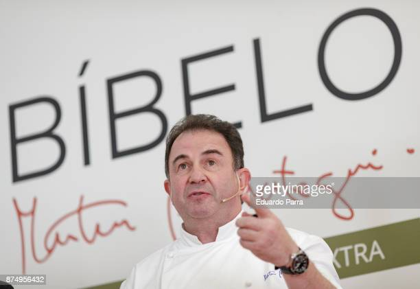 Chef Martin Berasategui presents new olive oil 'Bibelo' at ABC Museum on November 16 2017 in Madrid Spain