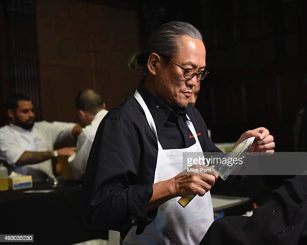Chef Masaharu Morimoto attends LG PRESENTS ROCK ROLL SUSHI Hosted By Masaharu Morimoto part of Mohegan Sun's Late Night Party Series during Food...