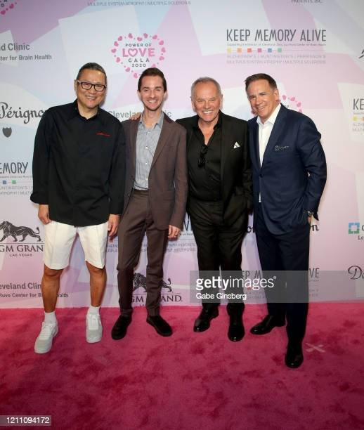 Chef Masaharu Morimoto Byron Puck chefs Wolfgang Puck and David Robins attend the 24th annual Keep Memory Alive Power of Love Gala benefit for the...
