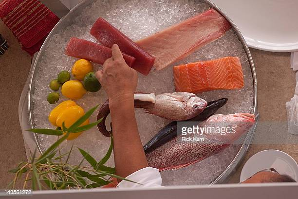 Chef Masaharu Morimoto hosts 'Mastering The Art Of Sushi' during the inaugural Austin FOOD WINE Festival on April 28 2012 in Austin Texas