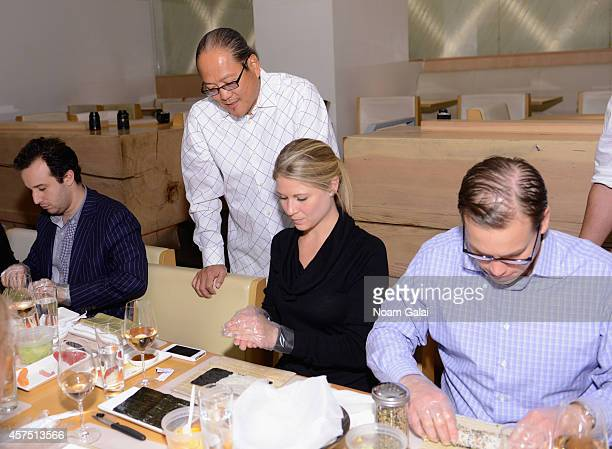Chef Masaharu Morimoto speaks while guests enjoy ShawRoss International Importers Chateau D'Esclans with MasterCard at Master Sushi Rolling Class...