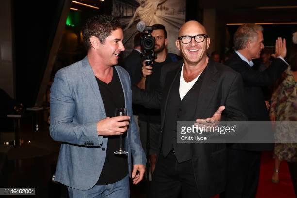 Chef Matt Moran and Artist Vincent Fantauzzo attend the Fantauzzo launch on May 02, 2019 in Brisbane, Australia.