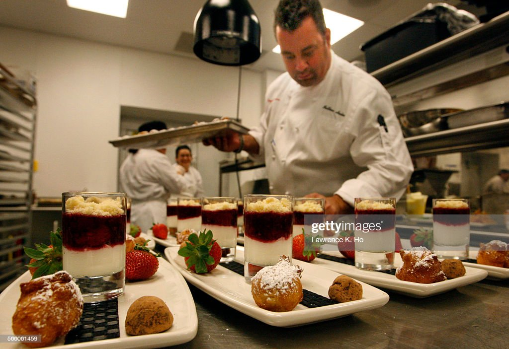 Chef Matthew Herter Preparing Desserts For A Party In The Kitchen Of The  Gold Class Cinemas