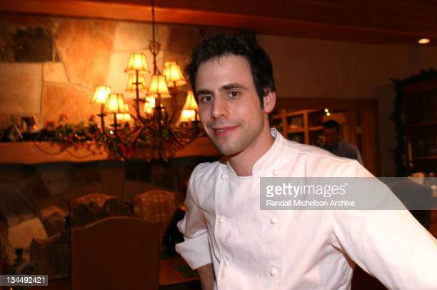 Chef Matthew Wadiak owner of Cooks' Venture during 2004 Sundance Film Festival New York Film Commission at Private Residence in Deer Valley Utah...