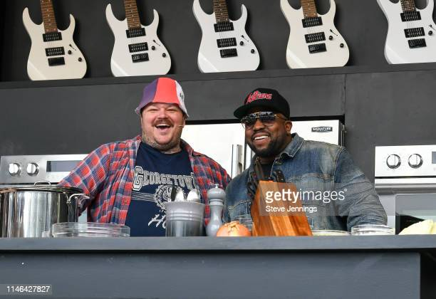 Chef Matty Matheson and Rapper Big Boi attend the William Sonoma Culinary Stage on Day 3 of BottleRock Napa Valley 2019 at Napa Valley Expo on May 24...