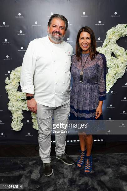 Chef Mauro Elli and Shamin Abas attend Promemoria New York City Flagship Opening at Promemoria on June 11 2019 in New York City