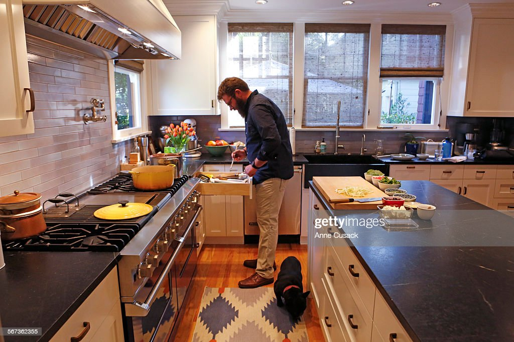 Chef Michael Cimarusti Prepares Dinner In The Kitchen Of