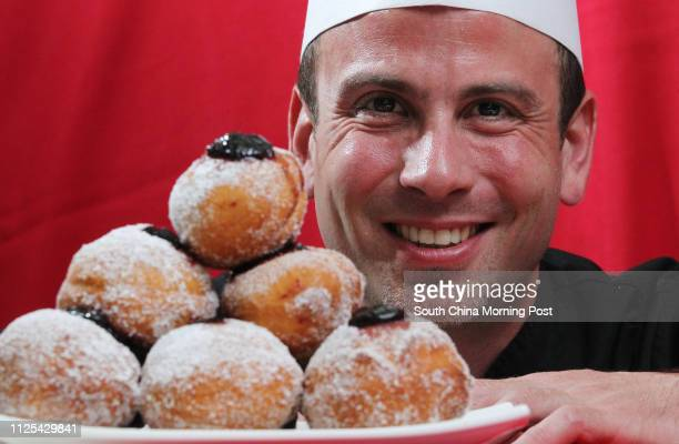 Chef Michael Erlik makes Sufganiyot filled with blackberry jam. 06NOV12