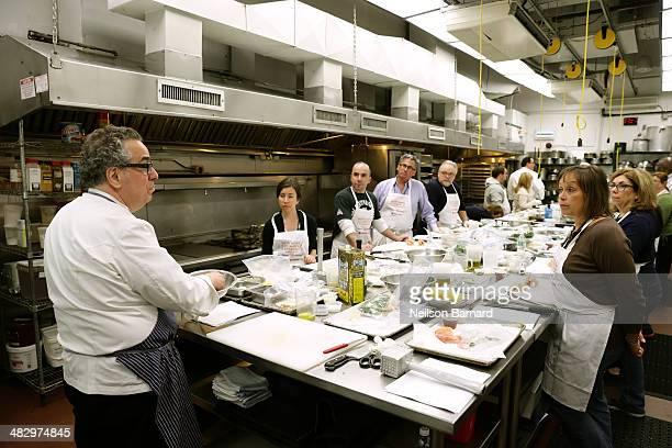 Chef Michael Lomonaco prepares Italian-American Restaurant Classics: Asparagus Fritti Milanese, Mozzarella in Carrozza Shrimp Fra Diavolo, Pollo al...