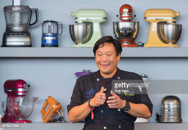 Chef Ming Tsai hosts 'Noodling Around' during the Austin FOOD WINE Festival at Auditorium Shores on April 29 2017 in Austin Texas
