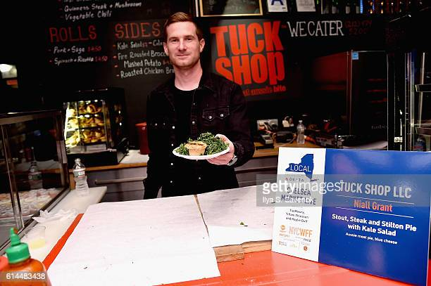 Chef Niall Grant of Tuck Shop LLC presents Stout Steak and Stilton Pie with Kale Salad at Chelsea Market Live hosted by Haylie Duff Tia Mowry and...