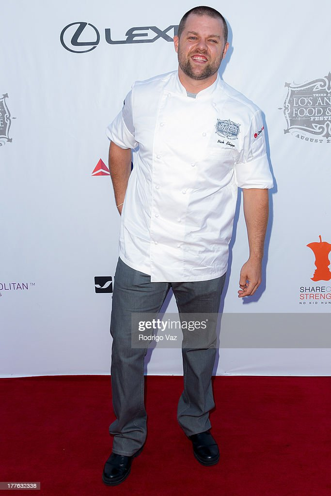 Chef Nick Shipp attends LEXUS Live On Grand at the 3rd Annual Los Angeles Food & Wine Festival arrivals on August 24, 2013 in Los Angeles, California.
