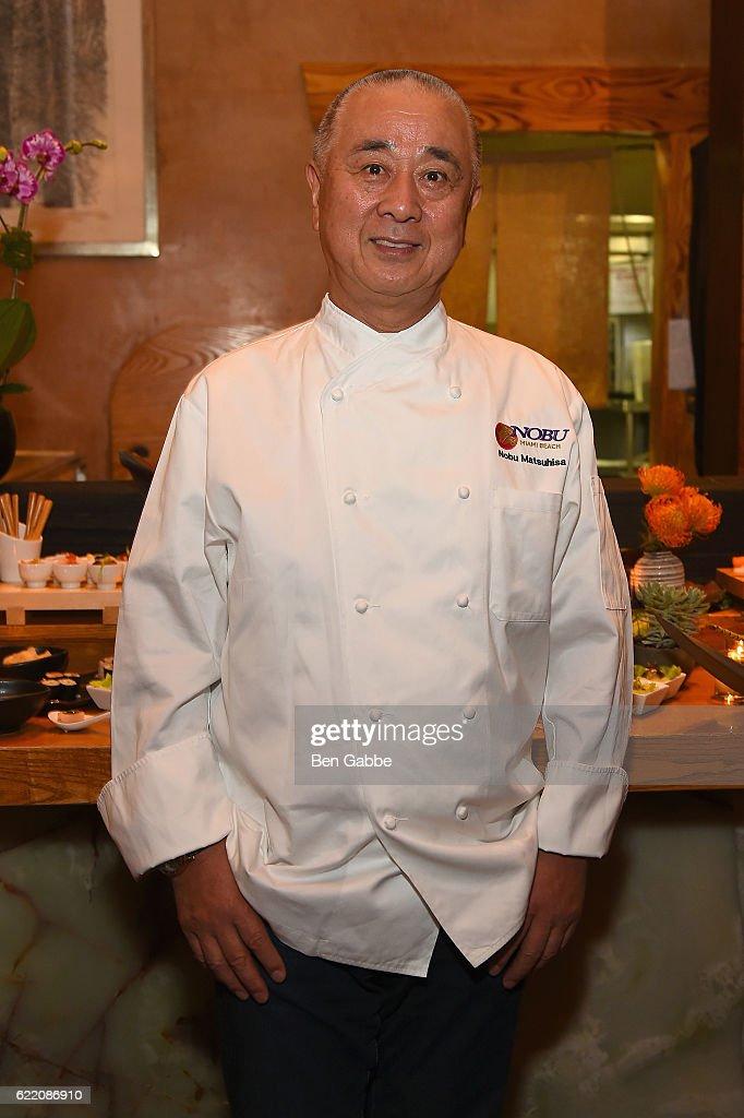 Chef Nobu Matsuhisa attends Nobu Hotel Miami Beach launch VIP cocktail at Nobu Next Door on November 7, 2016 in New York City.