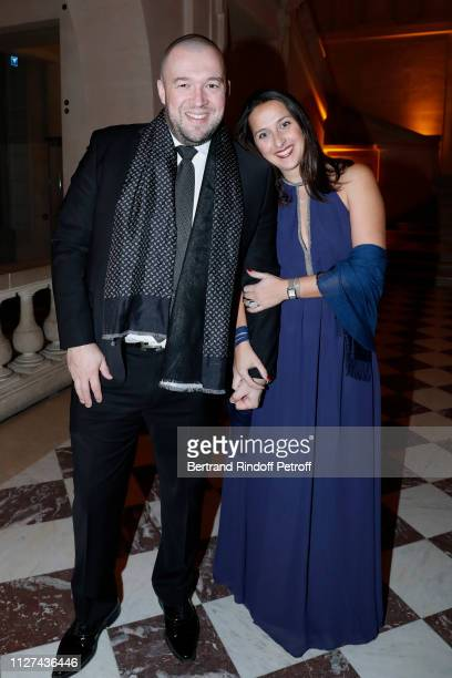 Chef of the Elysee Guillaume Gomez and Agathe Ferrer attend the 19th Gala Evening of the 'Paris Charter Against Cancer' under the patronage of UNESCO...