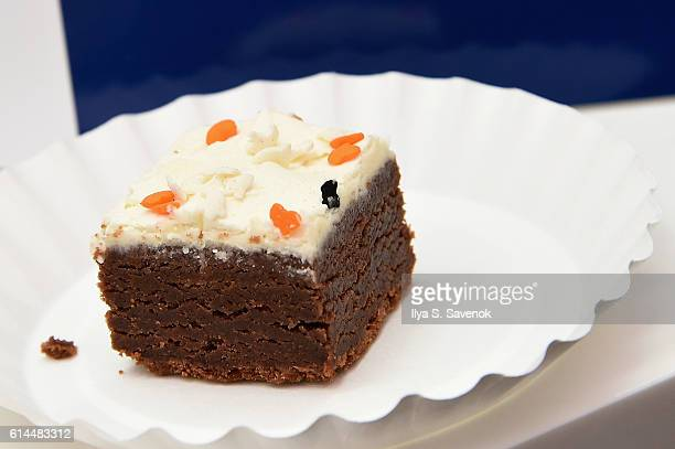 Chef Patricia Helding of Fat Witch Bakery presents Brownies at Chelsea Market Live hosted by Haylie Duff Tia Mowry and Tiffani Thiessen at Chelsea...
