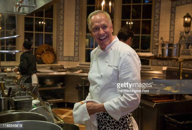Chef Patrick O'Connell prepares to cook for a gala dinner at the The Inn at Little Washington celebrating the 60th anniversary of Relais and Chateaux...