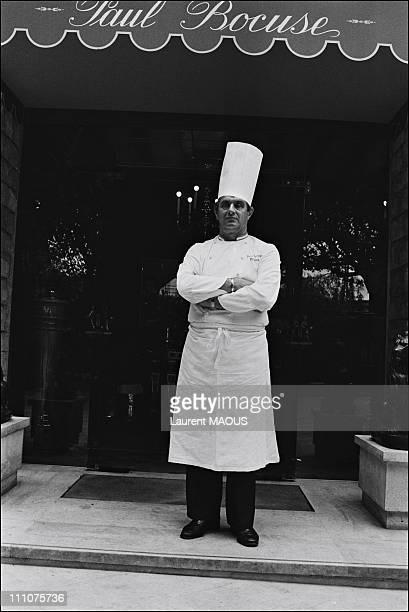 Chef Paul Bocuse in CollongesauMontd'or France in April 1981