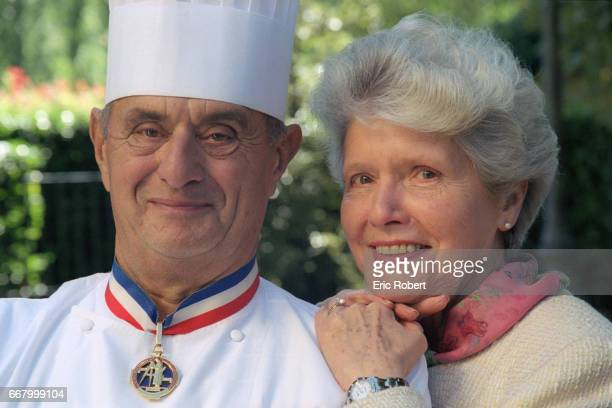 Chef Paul Bocuse with His Wife Raymonde