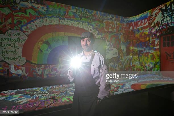 Chef Paul Pairet poses for photographs at his Ultra Violet restaurant in Shanghai, China on 28 September 2013. Serving only a dozen patrons per meal,...