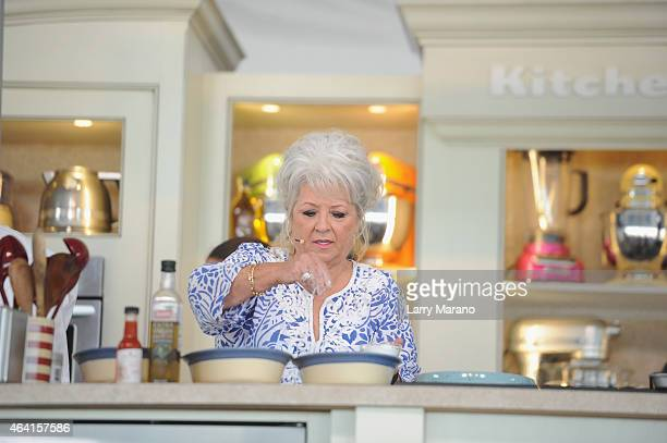 Chef Paula Deen speaks at the Whole Foods Market Grand Tasting Village featuring MasterCard Grand Tasting Tents KitchenAid Culinary Demonstrations...